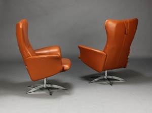 hjort knudsen paar sessel und hocker modell opus 315 3. Black Bedroom Furniture Sets. Home Design Ideas