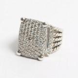 David Yurman. Wheaton ring, sterling silver with diamonds