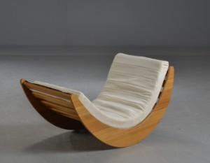 verner panton rocking chair model relaxer bamboo lauritz com