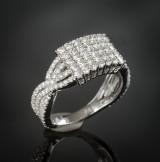 Brilliant-cut diamond ring approx. 1.57 ct.