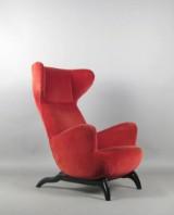 Carlo Mollino, a lounge chair, model Ardea by Zanotta