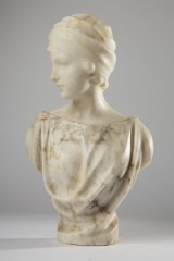 Guglielmo Pugi, a sculpture / bust, alabaster