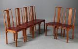 Josef Hoffmann, Wittmann, dining chairs, six (6)