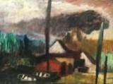 Ewald Jorzig (1905-1983), Öl auf Leinwand, Landschafts Szene