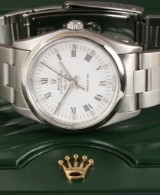 Rolex Air-King Precision. Men's watch, steel with white dial,  2003