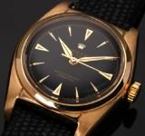 Rolex 'Bubble Back'. Vintage men's watch, 18 kt. gold, c. 1951