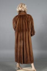 Saga Mink. Long coat, colour 'Glow', size 44-48