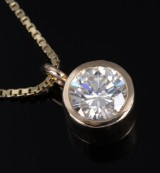 Goldsmith Ø. Diamond solitaire pendant in 14 kt. gold, approx. 2.27 ct