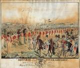 Niels Erichsen. 'Revuen ved Store Grundet den 23. juni 1836', akvarel