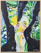 Vibe Vestergaard, olie på plade, figurkomposition