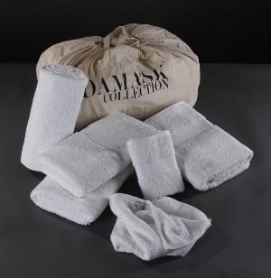 Damask Collection, pakke håndklæder af Egyptisk bomuld 19