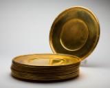 Platzteller, Messing, vergoldet (11)