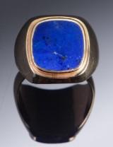 Herrering af guld  med lapis lazuli