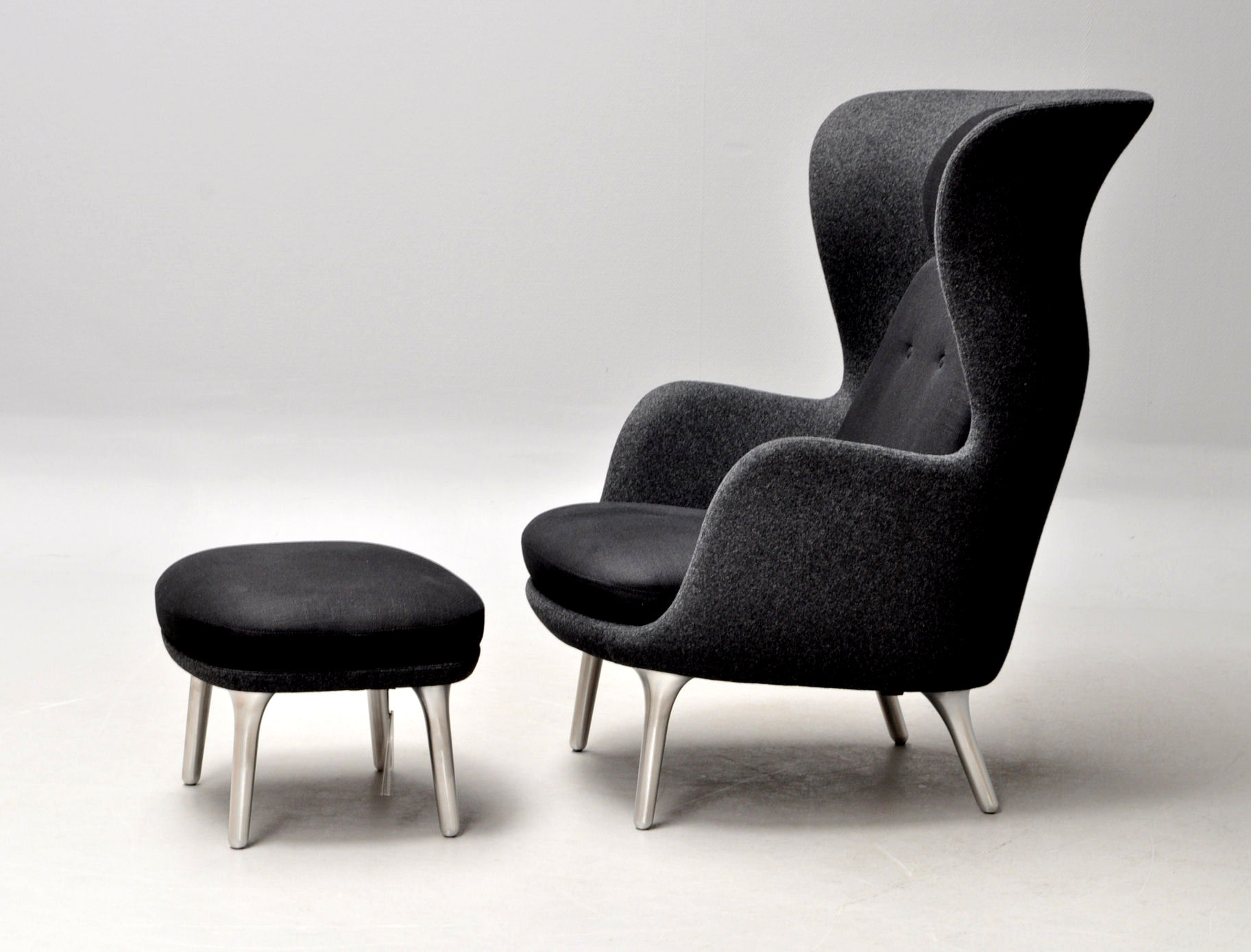 Click here to see a larger picture & Jamie Hayon for Fritz Hansen. Model Ro. Lounge chair with ottoman ...