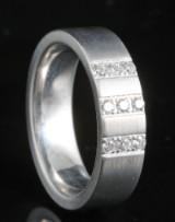18kt handmade diamond ring approx. 0.13ct