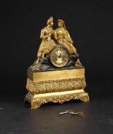 Fransk Kaminur af Bronze, 1800 tallet første halvdel