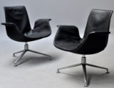 Preben Fabricius & Jørgen Kastholm. A pair of Tulip lounge chairs (2)