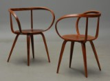 George Nelson. A pair of 'Pretzel Chairs', Anniversary Edition (2)