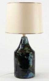 Bordlampe, glaseret lertøj