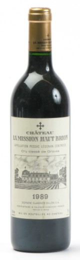 1 fl. La Mission Haut-Brion 1989. (1)