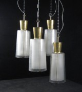 Set of large hanging lamps/hall lighting from the 1950/60s(4)