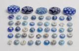 Charlotte Borgen - 50 charms /beads i blå nuancer (50)