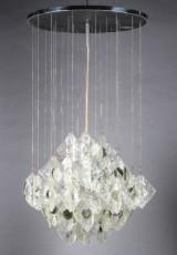Mazzega, lysekrone af glas 1960erne