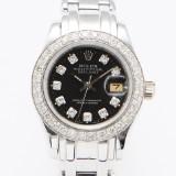 Rolex Pearlmaster damarmbandsur i 18 k vitguld