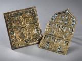 To russiske bronzeikoner. 1700-tallet. (2)