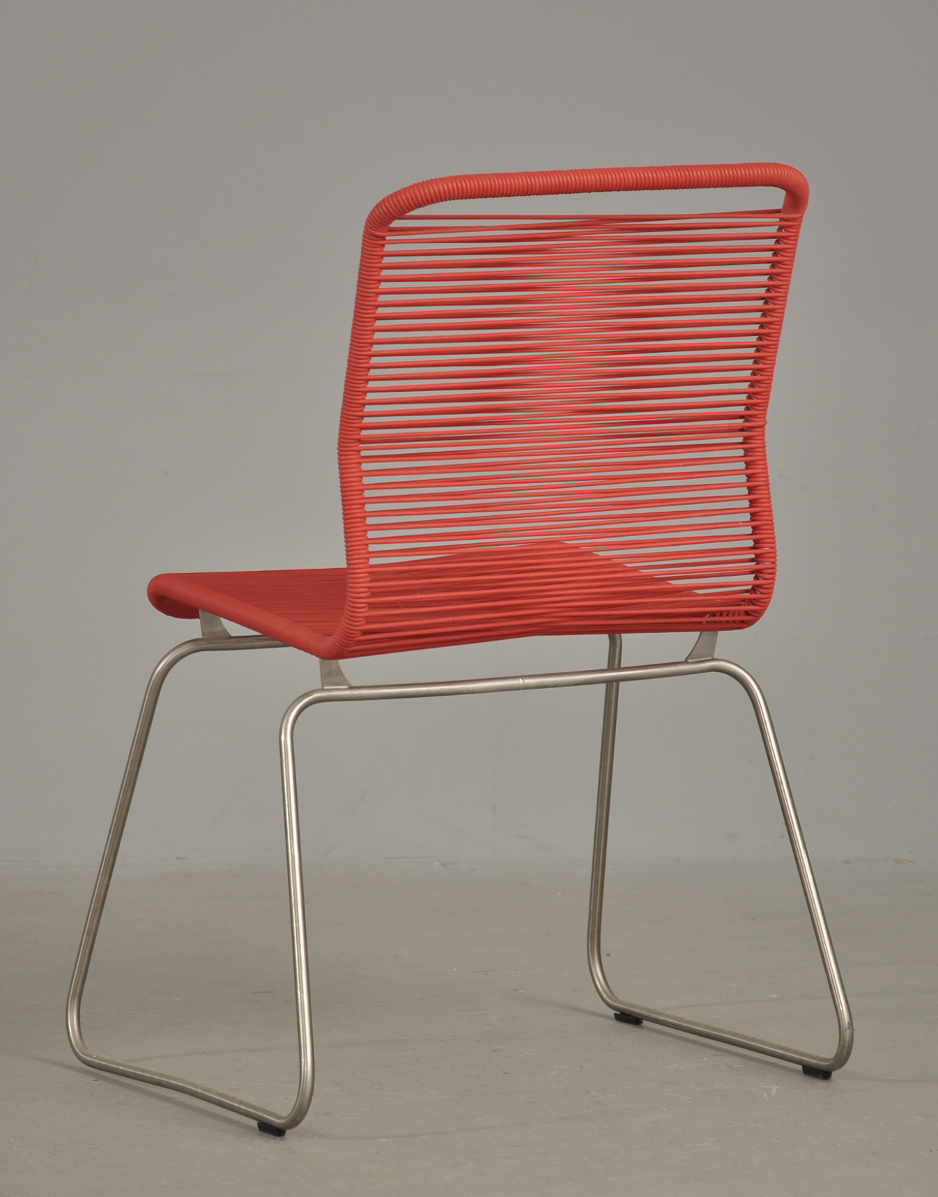 Verner Panton 1926 1990: 'Tivoli' stol, rød |
