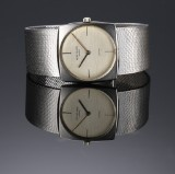 Patek Philippe. A large ladies watch, 18 kt. white gold, with silver-coloured dial, 1960s