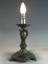 Neo-rococo candlestick, silver, Manufaktur Gebrüder Friedlaender, electrified