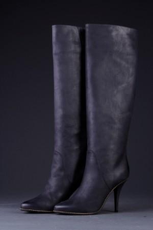 54675d419fe Støvler af sort skind, str. 39 Denne vare er sat til omsalg