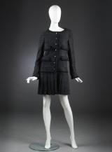 Chanel, kjole / jakke af tweed, dansk str. 36/38 (Fransk 40)
