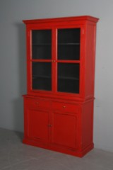 Two-section display cabinet, antique paint finish (2)