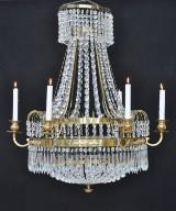 Ljuskrona i gustaviansk stil, ca 1890-1920